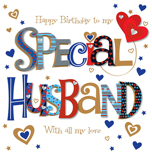 Happy Birthday Special Husband Card